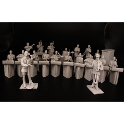 WWII Big Band - (20 pcs - Please specify instruments on checkout, can produce a larger band upon request)